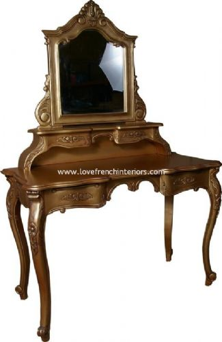 French Dressing Table in Antique Gold